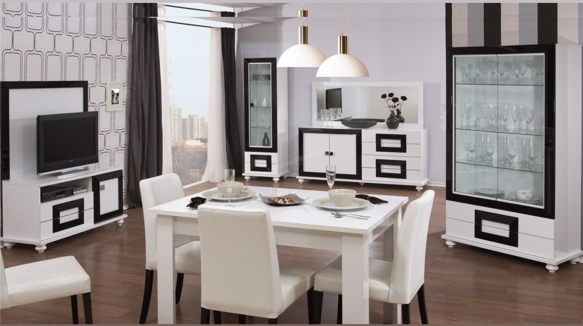 Ana sayfa atlantis yemek odası takımı beyaz