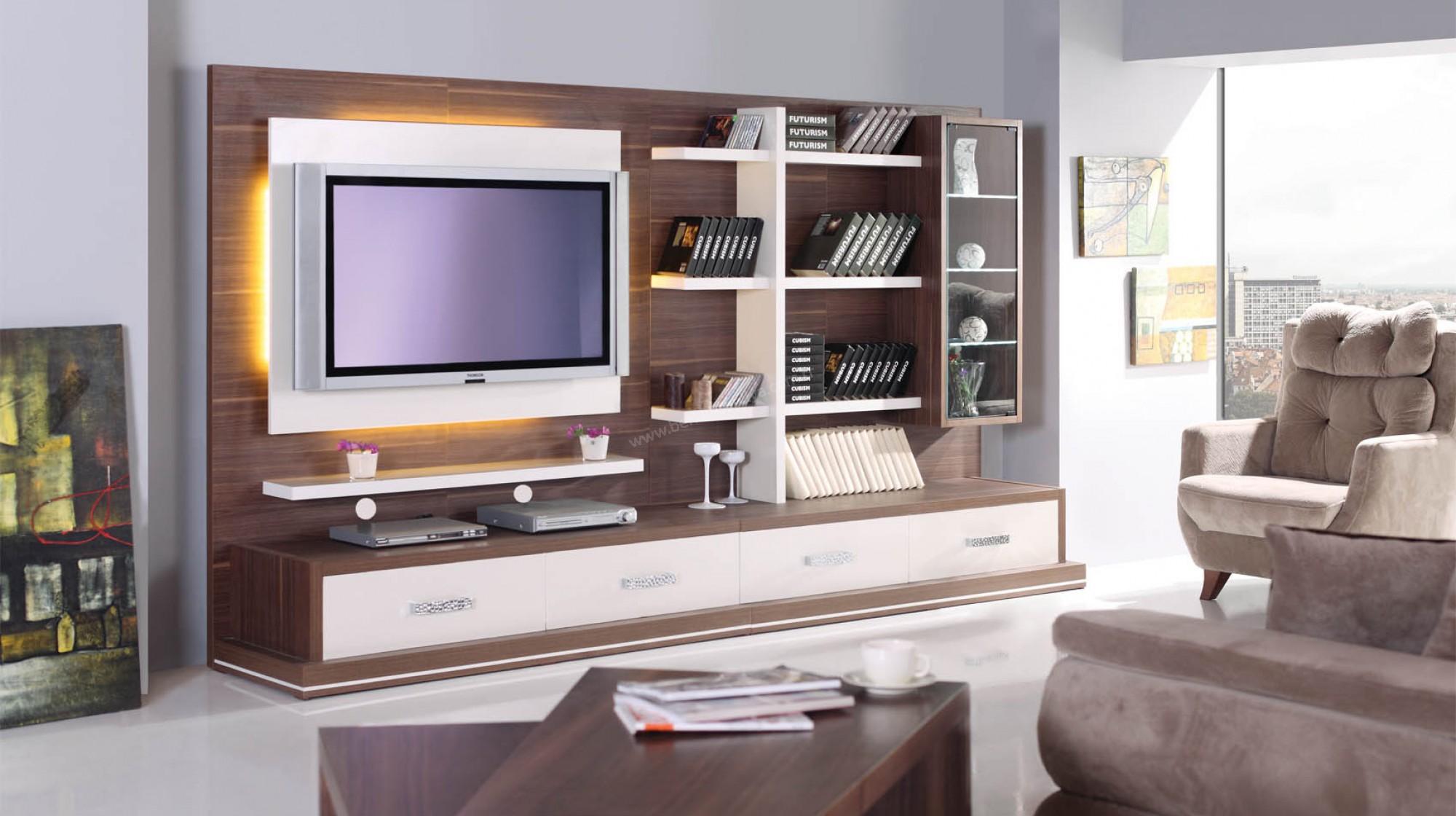 Moderner Tv Stander Birkenholz