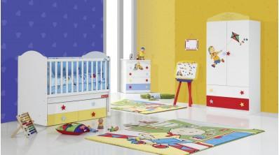 Caillou Bebek Odası 2Kp Gardrop - Beşik