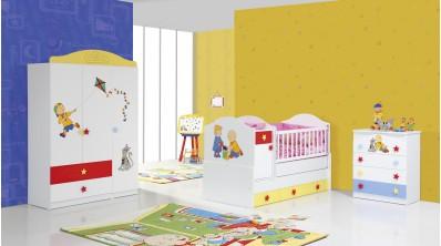 Caillou Bebek Odası 3 Kp Gardrop - B.Beşik