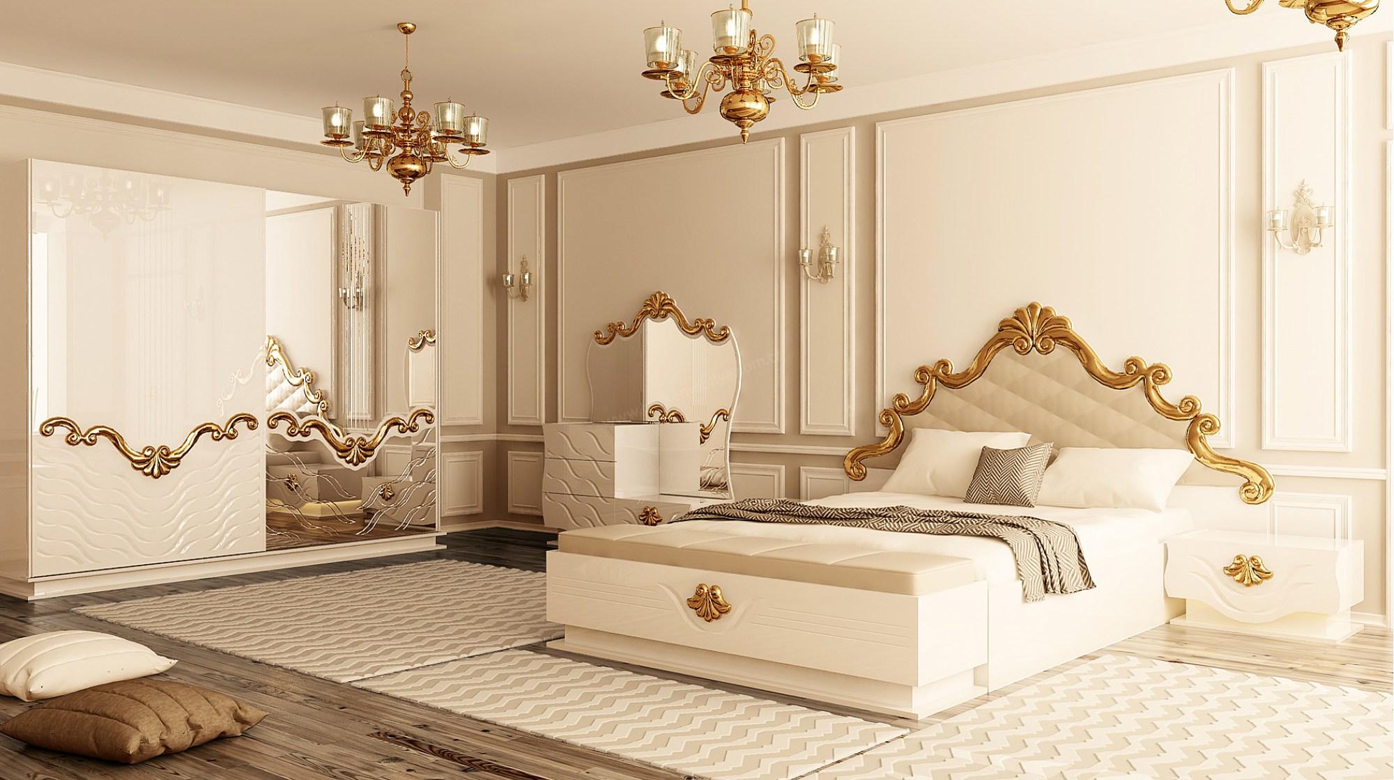 Altın Varaklı Yatak Başlığı ile ilgili görsel sonucu