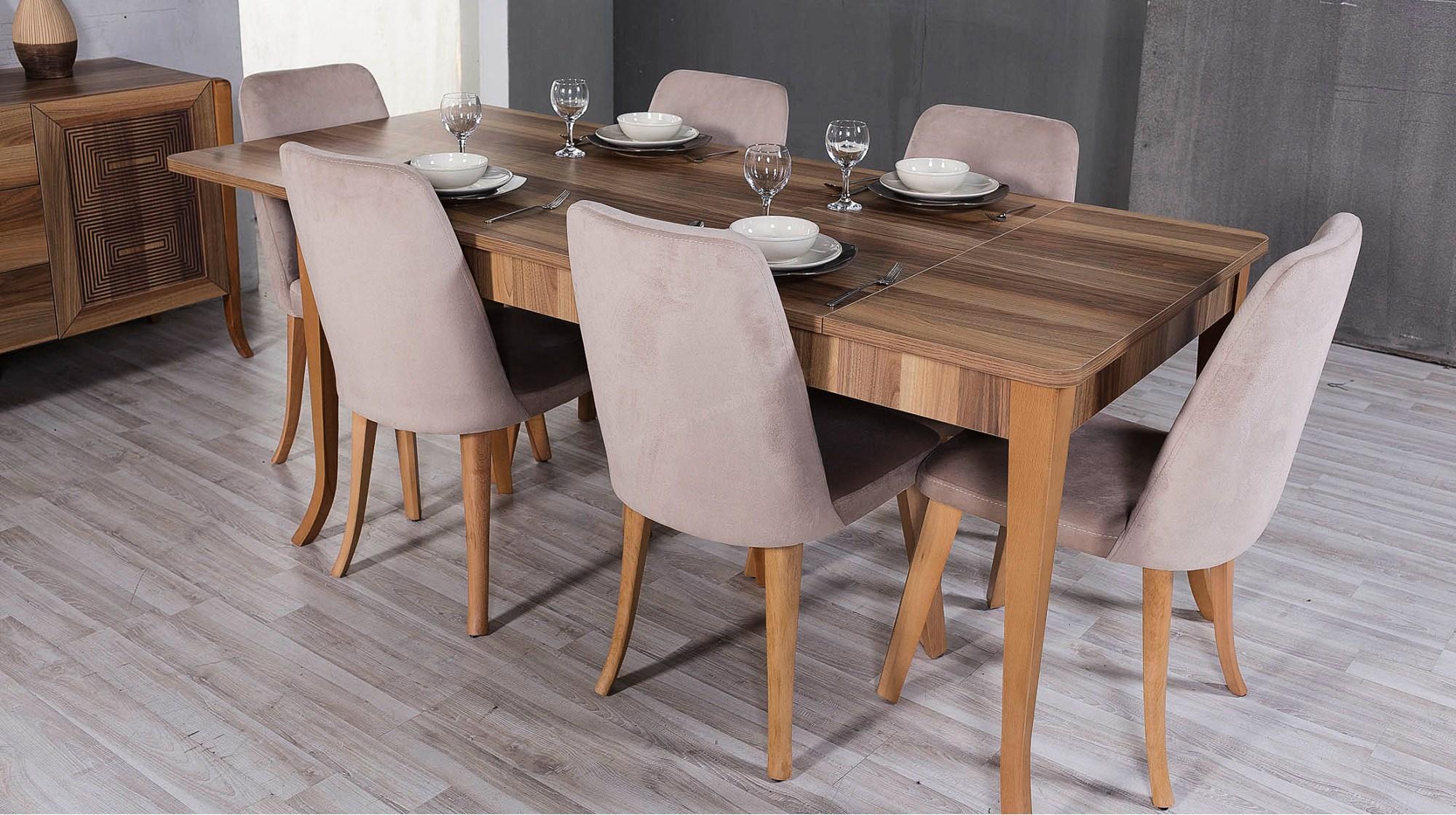 İnfinity retro yemek masası sandalye - yemek odaları - berke mobilya