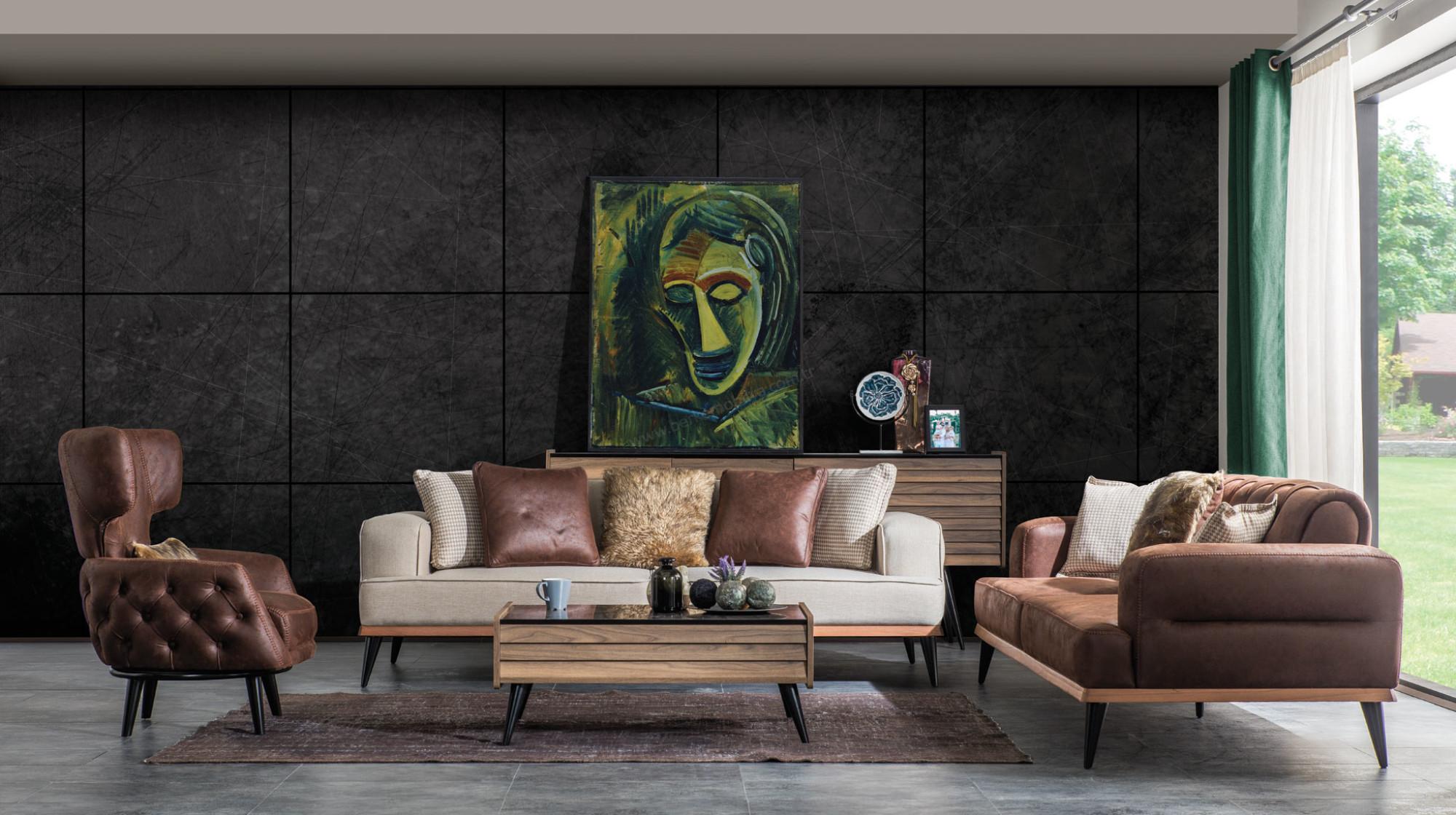 Olive Koltuk Takimi Modern Koltuk Takimlari Berke Mobilya
