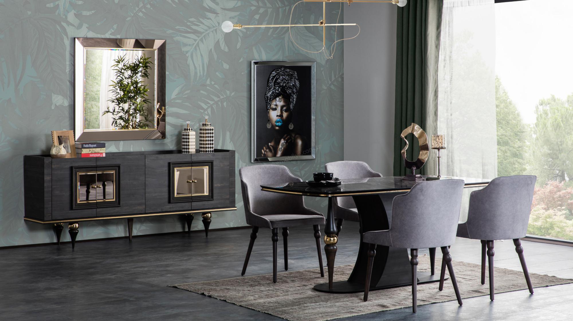 Zen Art Deco Yemek Odasi Takimi