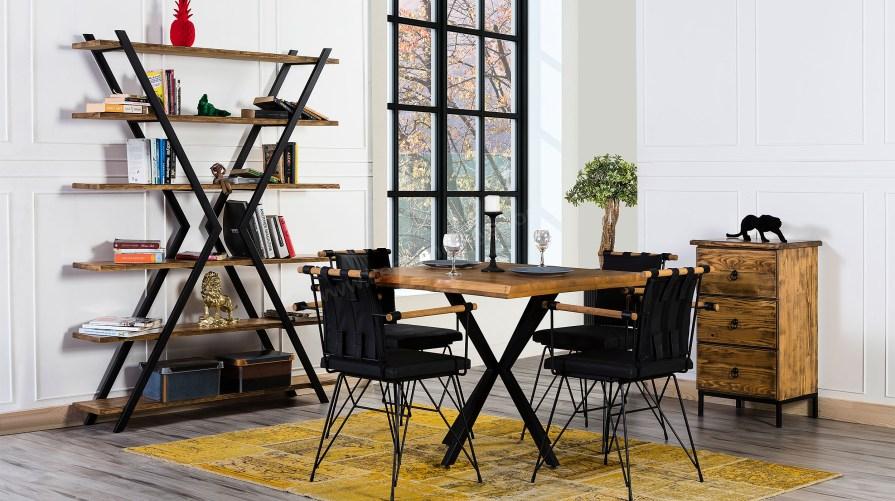 90 Lık Kare Masa Sandalye Set