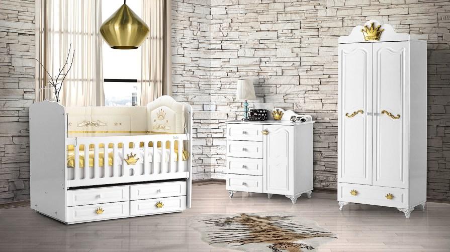 Kral Altın Mini Bebek Odası Takımı