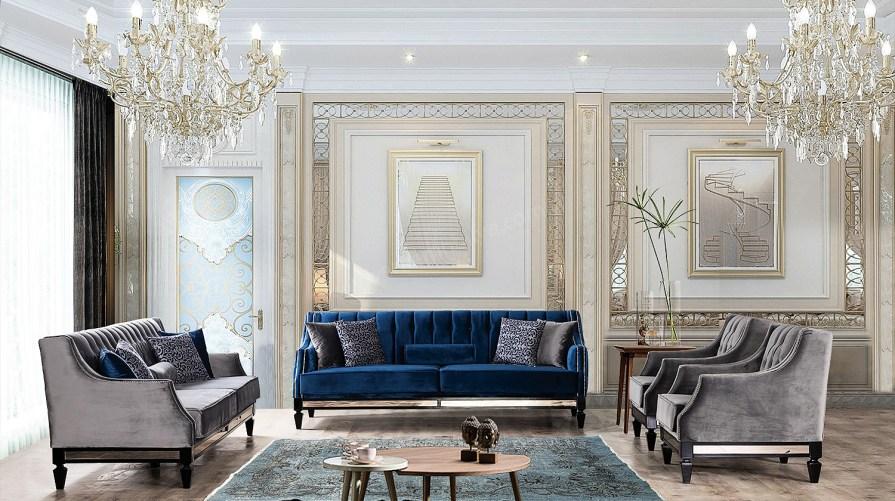 Platin Art Deco Koltuk Takımı One