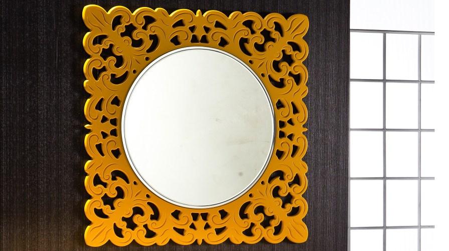 Defne Dekoratif Ayna Hardal Sarı