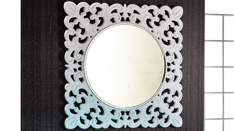 Defne Dekoratif Ayna Beyaz
