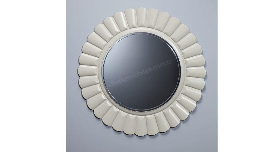 Güneş Dekoratif Ayna Beyaz