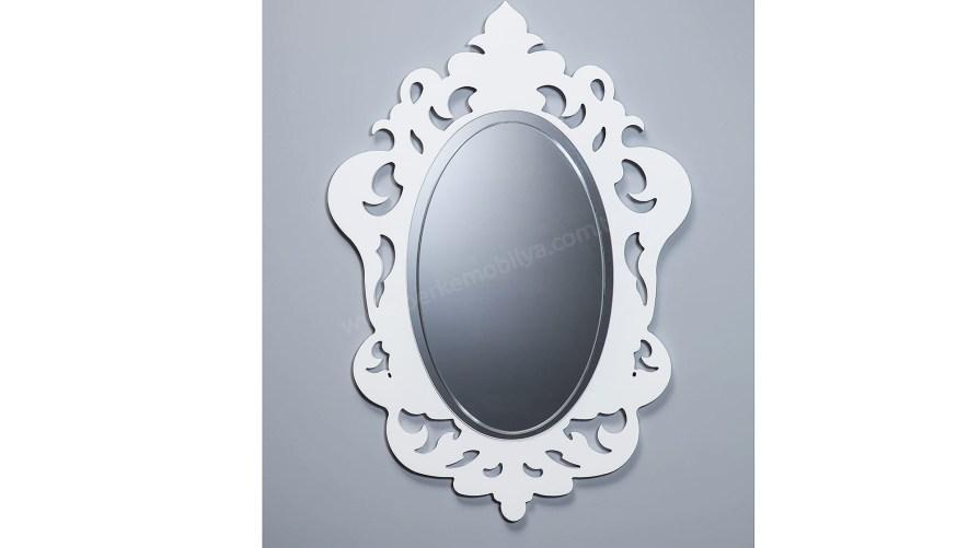 Arma Dekoratif Ayna Beyaz