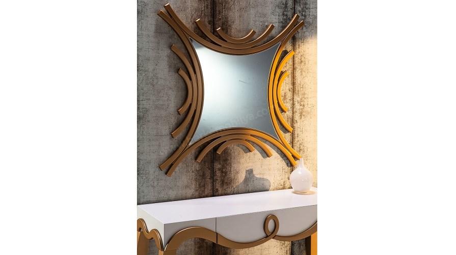 Bronze Dekoratif Ayna Altın
