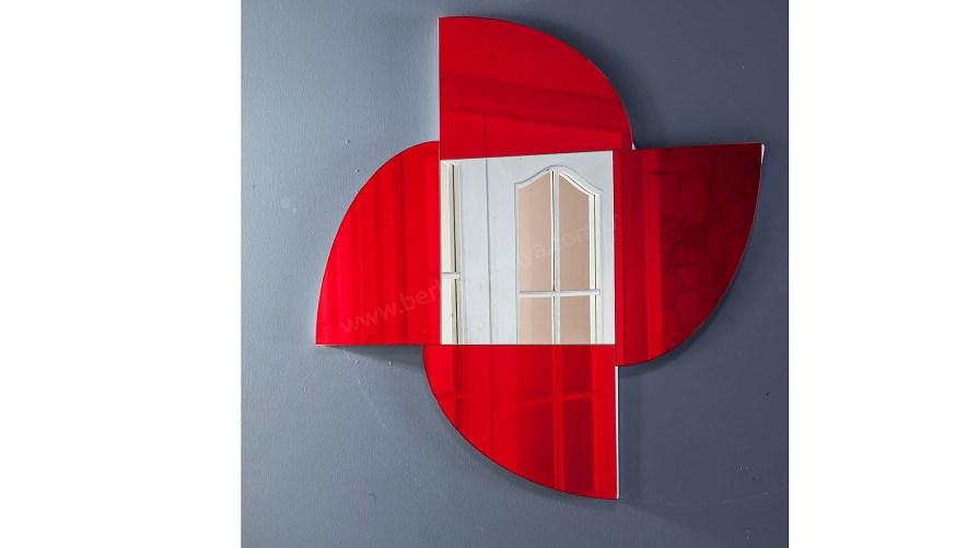 Rolls Dekoratif Ayna Kırmızı