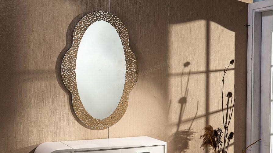 Camelia Dekoratif Ayna Altın