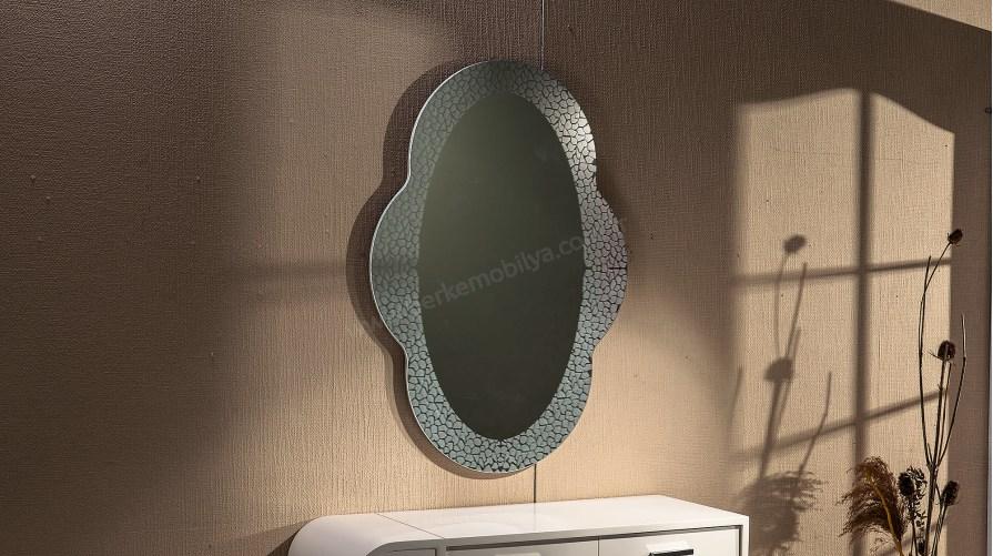 Camelia Dekoratif Ayna Gümüş