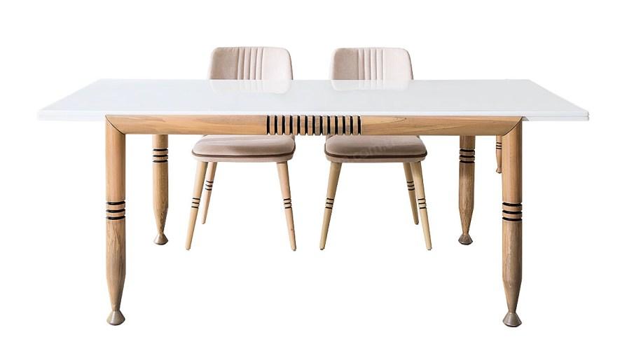 Arya Meşe Yemek Masası Sandalye