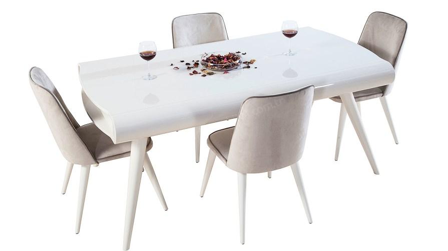 Power Ahşap 1 Delüx Yemek Masası Delüx Salvo Sandalye