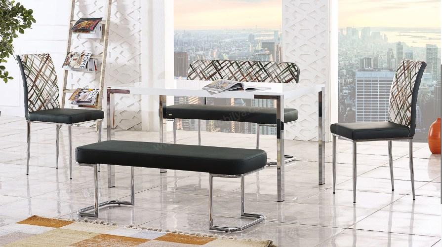 Adel Bank Sandalye İkon Masa Takımı