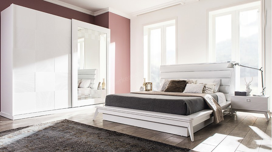 Almoda Beyaz Yatak Odası Takımı