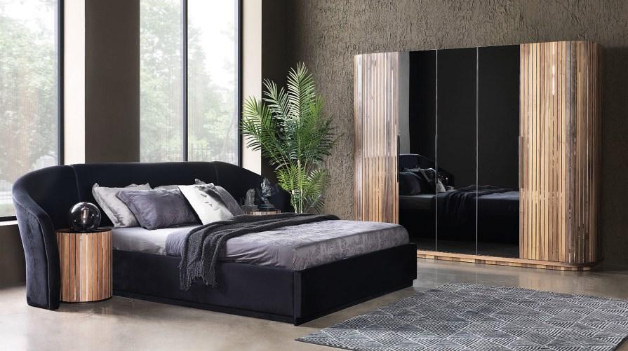 Alyans Ahşap Ceviz Yatak Odası Takımı