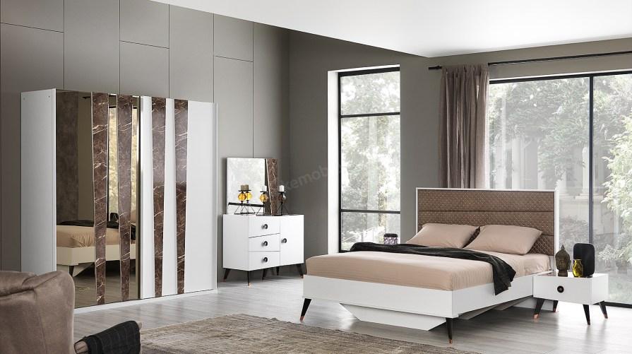 Karşıyaka Beyaz Yatak Odası Takımı