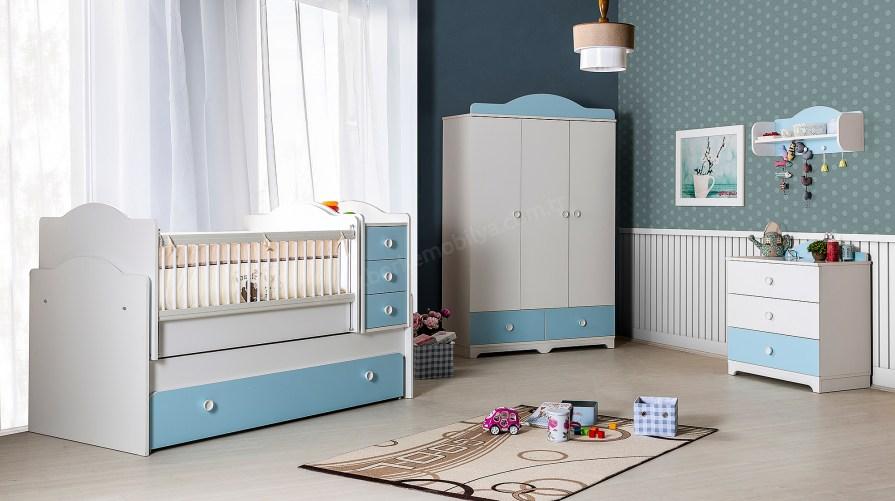Latte Blue Bebek Odası Takımı