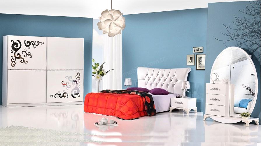 Beyaz bella Avangarde Yatak Odası Takımı