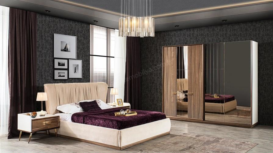 Belle Bazalı Yatak Odası Takımı