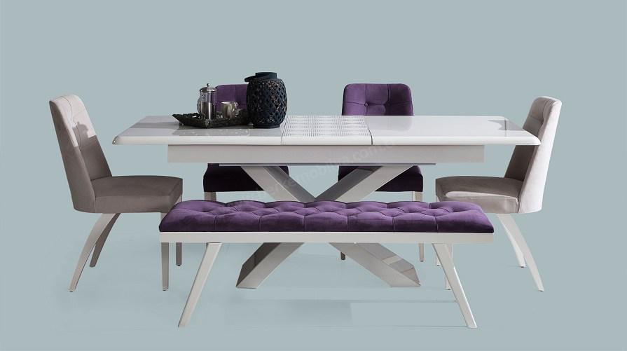 Beta Modern Yemek Masası Sandalye Bench