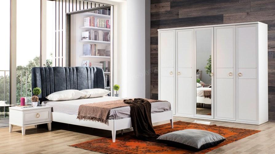 Melis 5kp Beyaz Yatak Odası Takımı