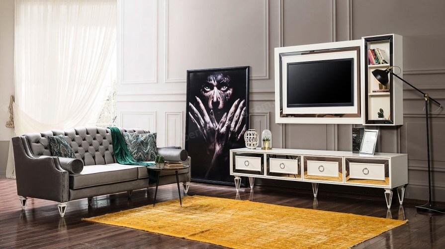 Bianco Ahşap Tv Ünitesi Beyaz