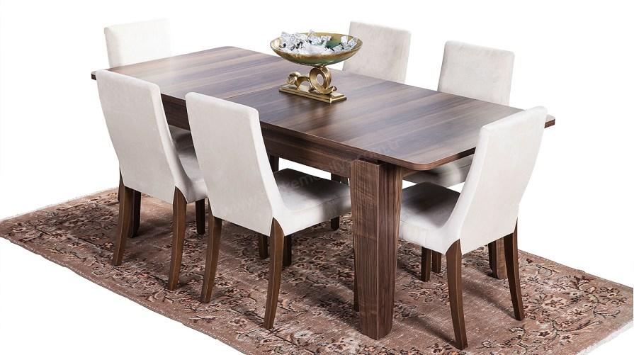 Camelia Ceviz Yemek Masası Sandalye