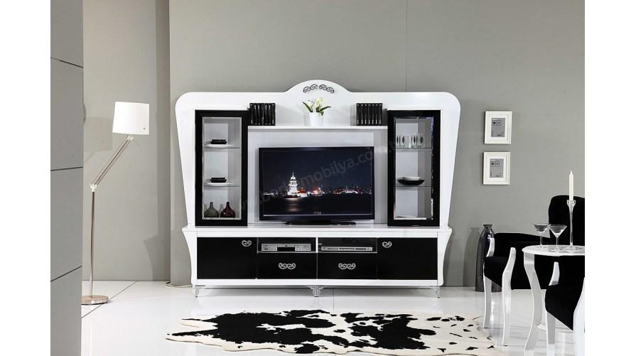 Cazibe Line Siyah Tv Ünitesi