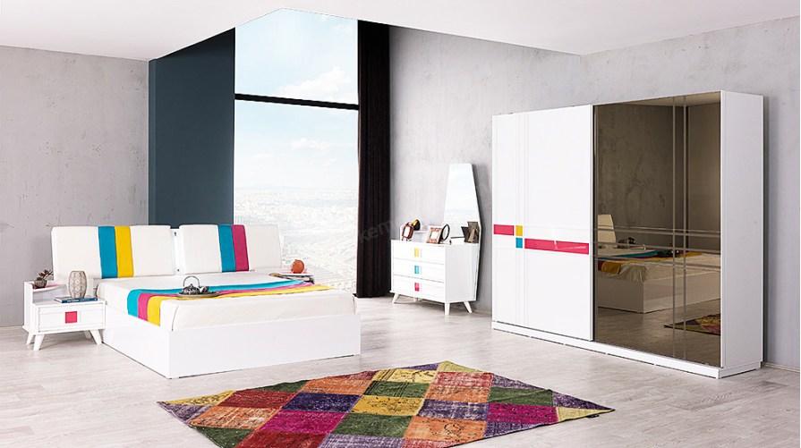 City Colour Bazalı Yatak Odası Takımı