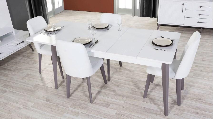 Deco Beyaz Yemek Masası Sandalye