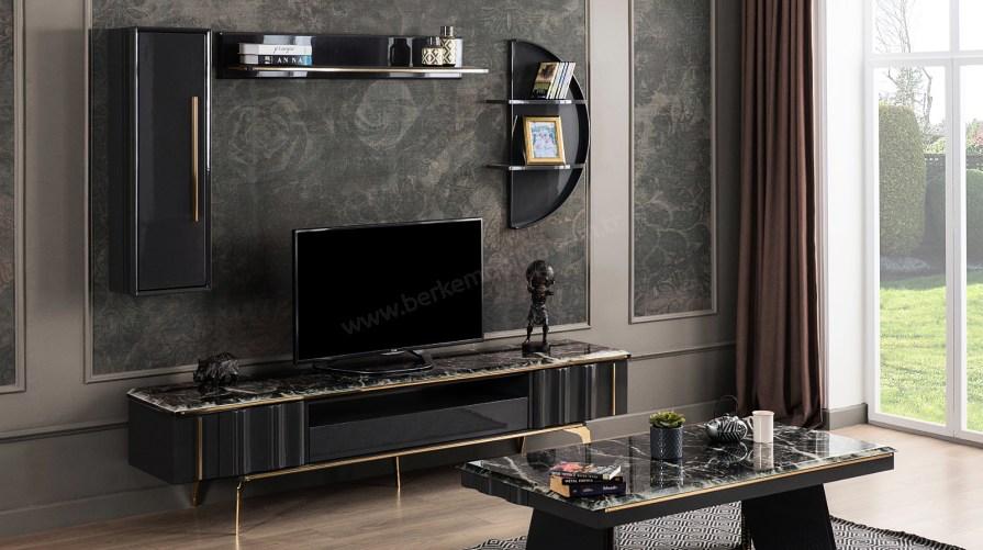 Defne Metal Gold Tv Ünitesi
