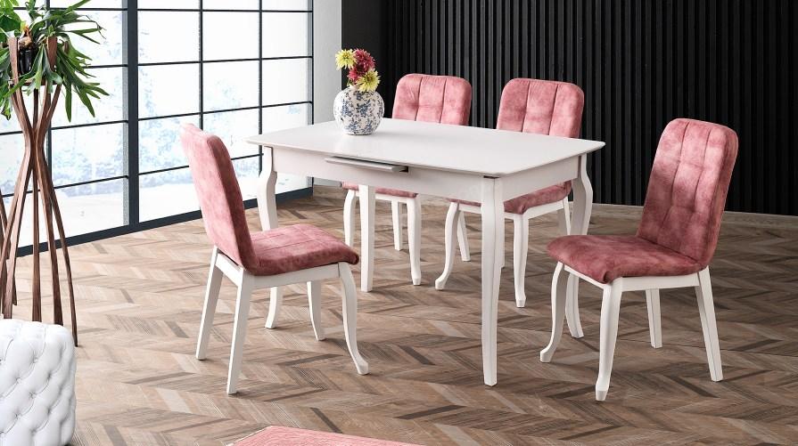 Durum Beyaz Yemek Masası Set