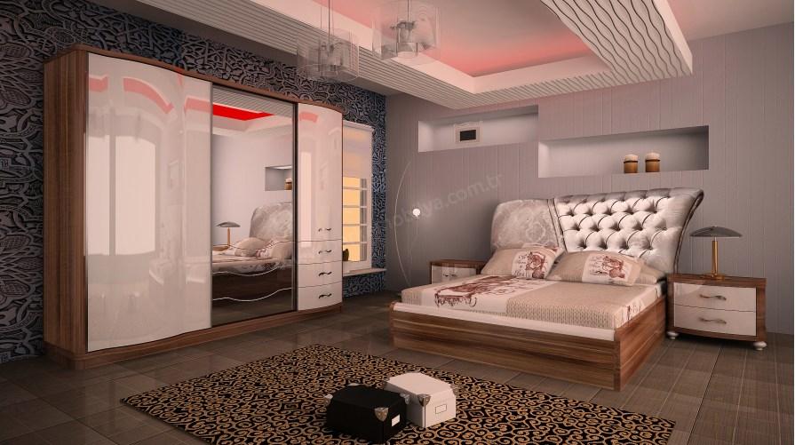 Ebru Yatak Odası Takımı Anadolu Cevizi