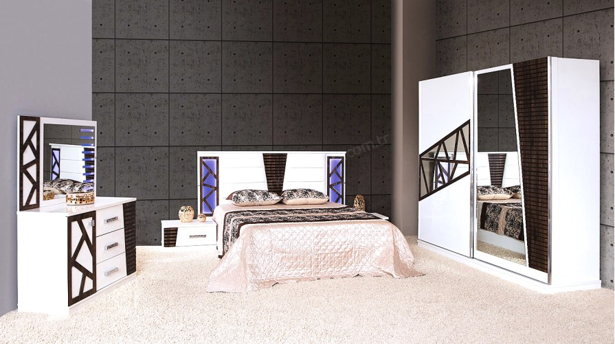 Efe Modern Beyaz Yatak Odası Takımı