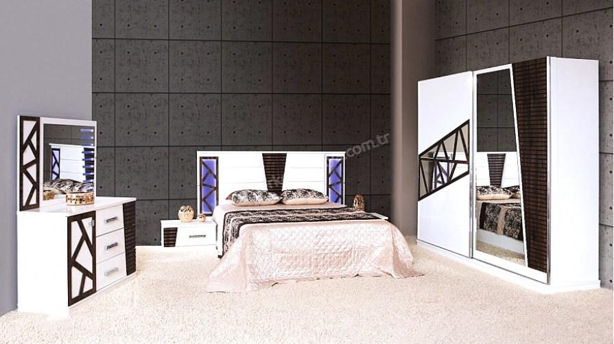 Efe Modern Beyaz Yatak Odası Takımı Teşhir