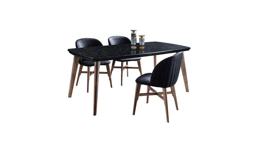 Everest Siyah Yemek Masası Sandalye