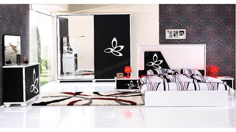 Fiore Yatak Odası Takımı Siyah - Beyaz