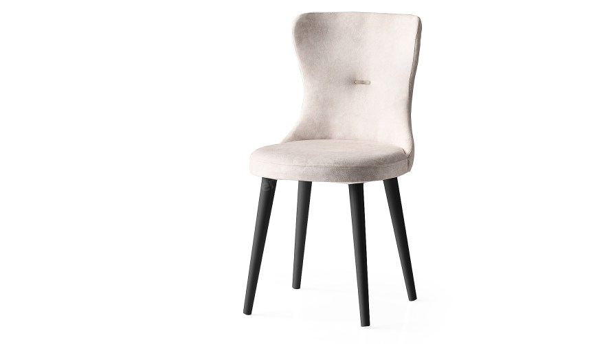 Ela Siyah Ayaklı Sandalye