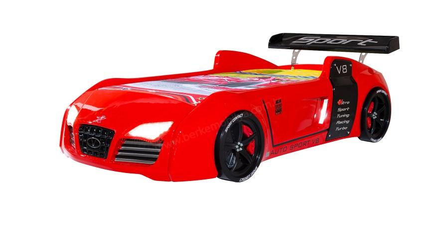 Turbo S V8 Standart Kırmızı Arabalı Karyola
