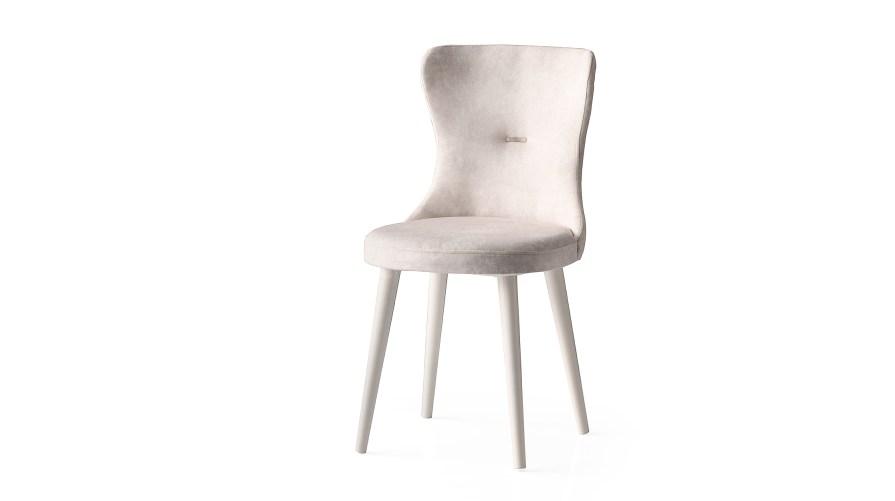 Ela Ekru Ayaklı Sandalye