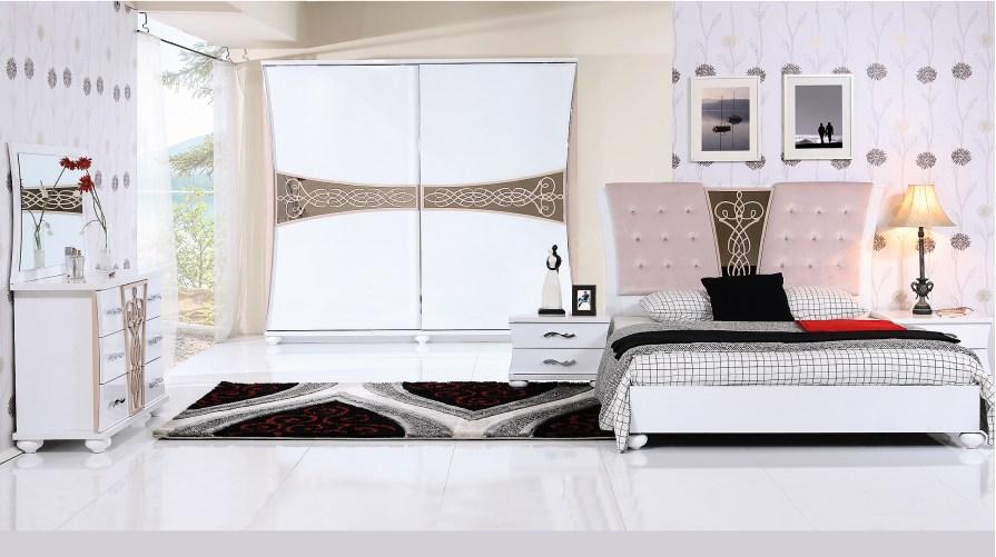 Gloria Yatak Odası Takımı Beyaz - Balbuğu