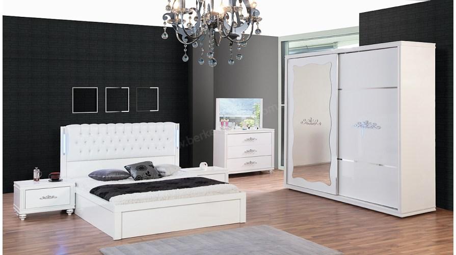 Linda Beyaz Yatak Odası Takımı
