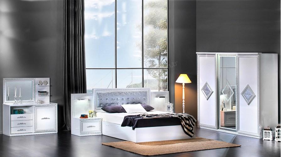 İnci Beyaz Yatak Odası Takımı
