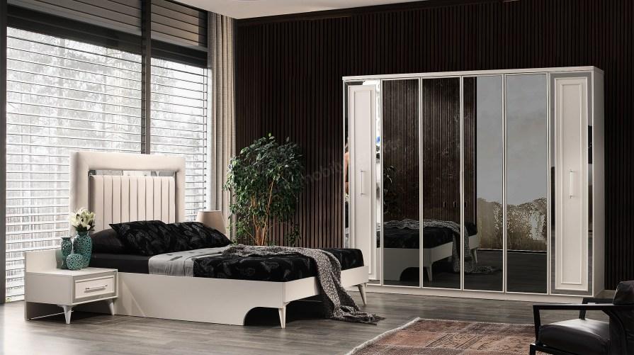 İnci Beyaz 6kp Yatak Odası Takımı