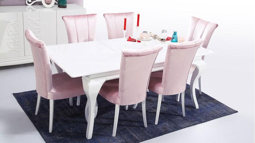 Kristal Avangarde Yemek Masası Sandalye